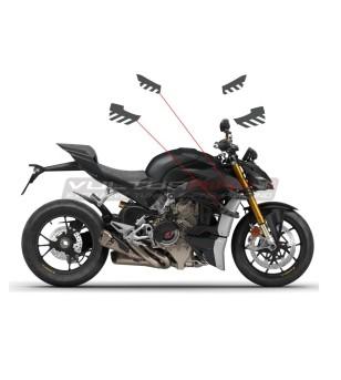 Streifen Edition Flossenaufkleber - Ducati Streetfighter V4 / V4S