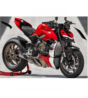 Front fairing and tail' stickers stripe edition black - Ducati Streetfighter V4 / V4S