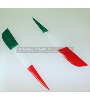 Italian tricolor flags resinated for wings - Ducati Streetfighter V4 / V4S