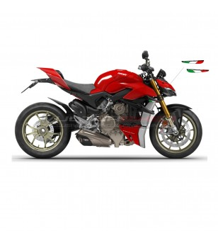 Resinated Italian tricolor flags for wings - Ducati Streetfighter V4
