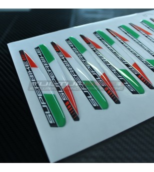 3D resin Italian flags stickers superbike - Ducati Panigale V4 / V4S / V4R