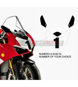 Adesivi cupolino con numero personalizzato - Ducati Panigale V4 2018 / 2020 V2 2020