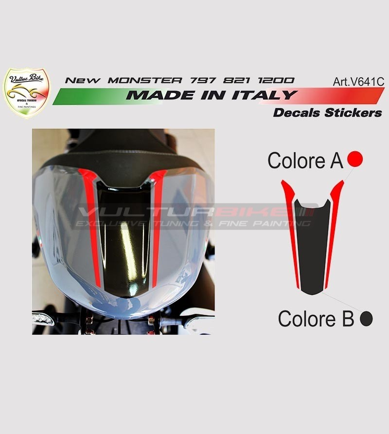 Stickers' kit for new Ducati Monster 797/821/1200's tail