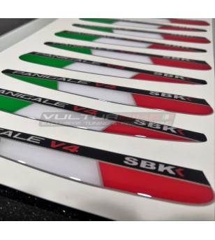 Drapeaux italiens résineux pour palmes - Ducati Panigale V4 / V4S / V4R