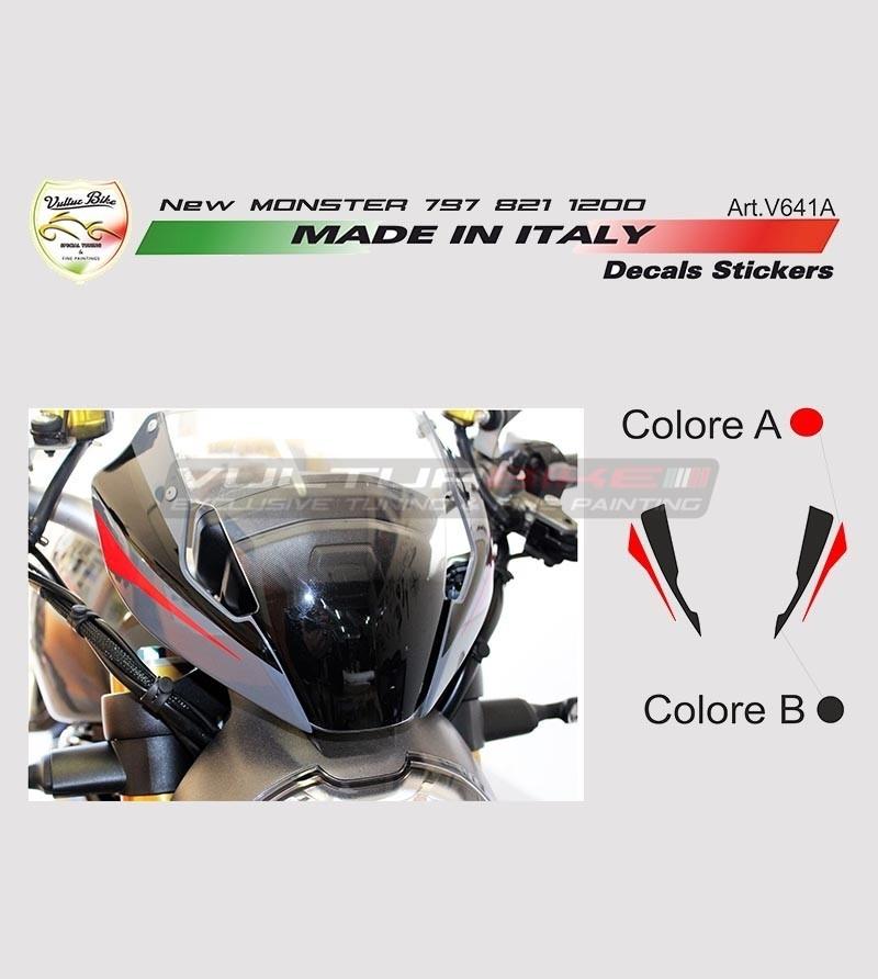 Stickers' kit for new Ducati Monster 797/821/1200's front fairing