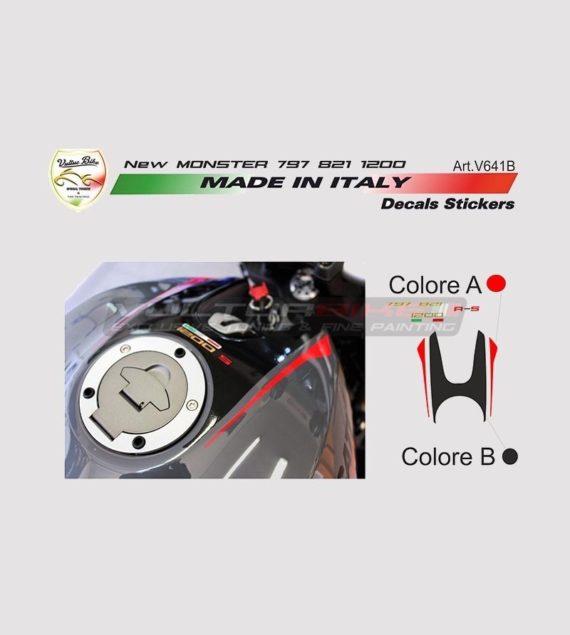 Stickers' kit for new Ducati Monster 797/821/1200's tank