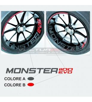 Adesivi personalizzabili per ruota - Ducati Monster 1100 EVO