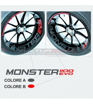 Pegatinas de ruedas personalizables - Ducati Monster 1100 EVO