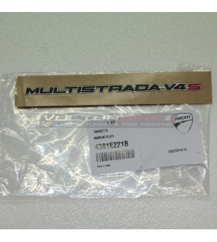 Targhetta originale Ducati Multistrada V4S