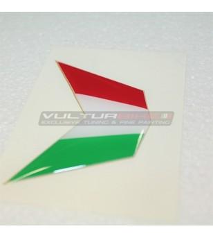 Adesivo Bandiera in 3D Resinata per Cupolino - Ducati 848 / 1098 / 1198