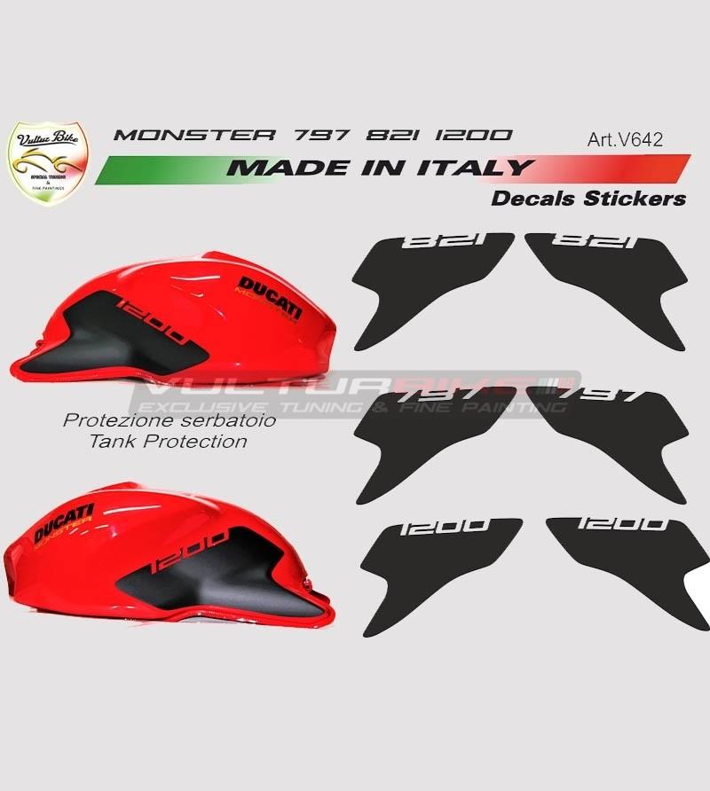 Stickers' kit for tank - Ducati Monster 797 / 821 / 1200