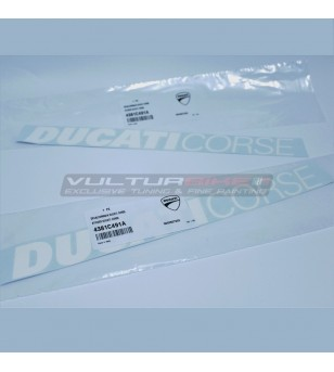 Pair of Original Ducati Corse stickers - Ducati Panigale V4R