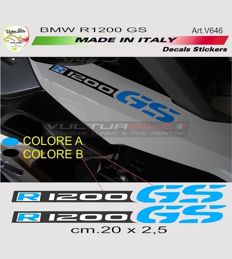 Stickers' kit for BMW R1200 GS moto 2 pieces