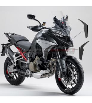 Adesivi grafite e neri per fianchetti - Ducati Multistrada V4