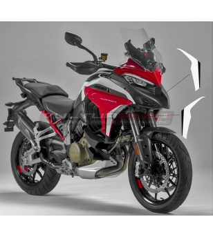 Adesivi bianco neri per fianchetti - Ducati Multistrada V4