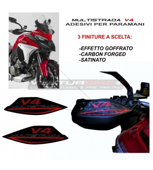 Handguards stickers with exclusive finish  - Ducati Multistrada V4