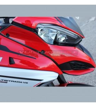 Complete stickers' kit silver design - Ducati Multistrada V4