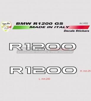 Kit 2 adesivi per moto BMW R1200 GS