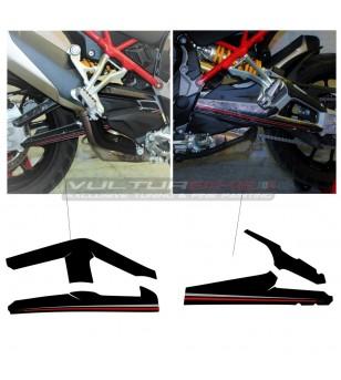 Adesivi per forcellone finitura esclusiva - Ducati Multistrada V4 / V4S