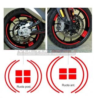 Perfiles adhesivos personalizables para ruedas - Ducati Multistrada V4