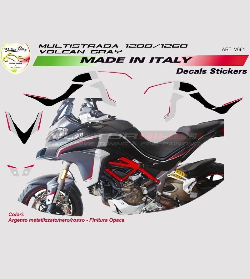 Stickers' kit for Ducati Multistrada Volcano Gray