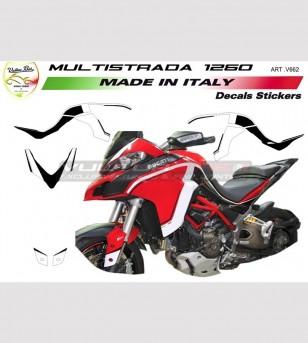 Kit de pegatinas para Ducati Multistrada diseño personalizado 1260