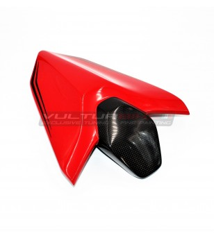 Passenger seat cover in carbon fiber customized - Ducati Panigale V4 / V2 / Streetfigter V4