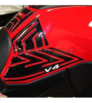 Ensemble de protection de réservoir en résine 3D - Ducati Multistrada V4