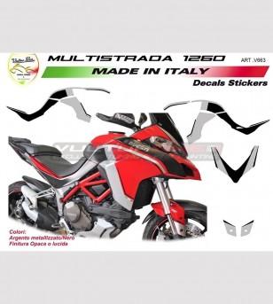 Kit adesivi per Ducati Multistrada 1200/1260 Design Personalizzato