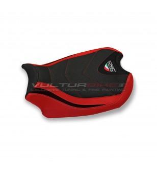 Revêtement de selle rouge noir - Ducati Panigale V4 / V4S / V4R